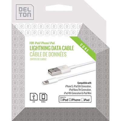 Delton 4ft Lighting to USB Sync and Charge Cable