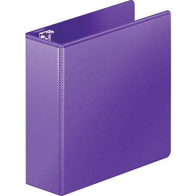 Heavy Duty D-Ring View Binder W/extra Durable Hinge, 3 Capacity, Purple