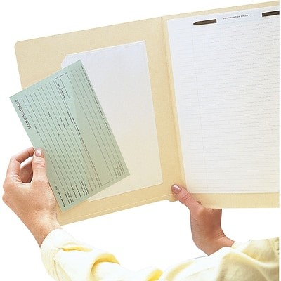 Medical Arts Press® Lightweight Poly Pockets, Inside: 8-1/2x5-1/2, Outside: 9-1/4Wx6H