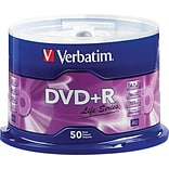 Verbatim® DVD+R Discs, Life Series, 16x, 4.7GB, 50-Pack Spindle
