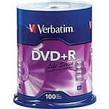 Verbatim® DVD+R Discs, Life Series, 16x, 4.7GB, 100-Pack Spindle