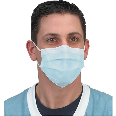 Crosstex® Protective Masks; Isofluid®, Earloop, Blue
