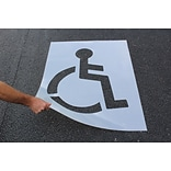 ACCUFORM SIGNS® Parking Lot Stencil, WHEELCHAIR/HANDICAPPED SYMBOL, 47 x 34, Plastic, Each