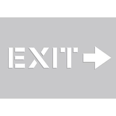 ACCUFORM SIGNS® Floor Marking Stencil, EXIT (ARROW RIGHT), 14 x 20, Plastic, Each