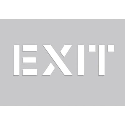 ACCUFORM SIGNS® Floor Marking Stencil, EXIT, 14 x 20, Plastic, Each