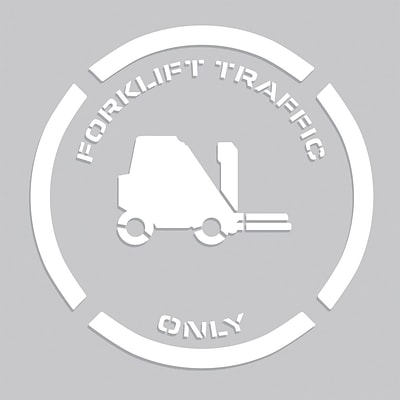 ACCUFORM SIGNS® Floor Marking Stencil, FORKLIFT TRAFFIC ONLY, 24 x 24, Plastic, Each