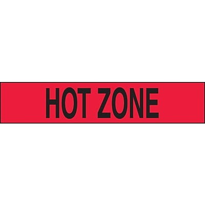 ACCUFORM SIGNS® Incident Management Plastic Barricade/Perimeter Tape, HOT ZONE, 3 x 1000-ft, Roll