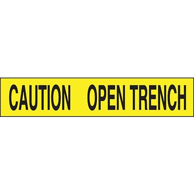 ACCUFORM SIGNS® Plastic Barricade/Perimeter Tape, CAUTION OPEN TRENCH, 3 x 1000-ft, Roll