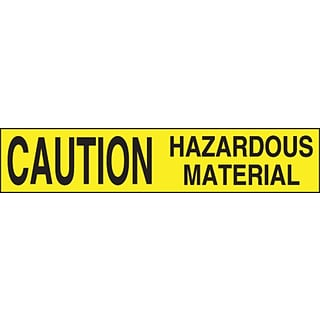ACCUFORM SIGNS® Plastic Barricade/Perimeter Tape, CAUTION HAZARDOUS MATERIAL, 3 x 1000-ft, Roll