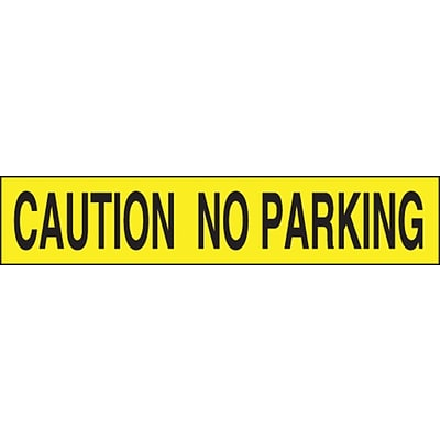 ACCUFORM SIGNS® Plastic Barricade/Perimeter Tape, CAUTION NO PARKING, 3 x 1000-ft, Roll
