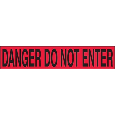 ACCUFORM SIGNS® Plastic Barricade/Perimeter Tape, DANGER DO NOT ENTER, 3 x 1000-ft, Roll