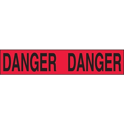 ACCUFORM SIGNS® Plastic Barricade/Perimeter Tape, DANGER, 3 x 1000-ft, Roll