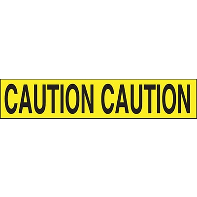 ACCUFORM SIGNS® Plastic Barricade/Perimeter Tape, CAUTION, 3 x 1000-ft, Roll