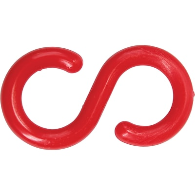 ACCUFORM SIGNS® S-Hook, Accessory For Linking and Unlinking Separate Lengths of Plastic Chain, Red