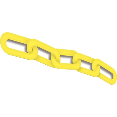 ACCUFORM SIGNS® Plastic Chain for Use with BLOCKADE Stanchion Posts, 100-ft, Yellow, Each