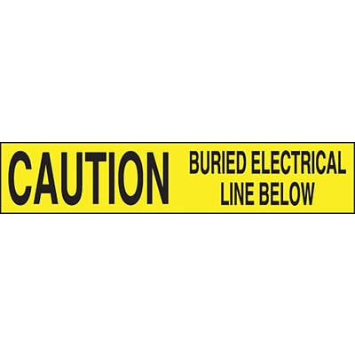 ACCUFORM SIGNS® Plastic Barricade/Perimeter Tape, CAUTION BURIED ELECTRICAL LINE BELOW, 3x1000