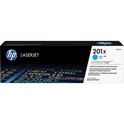 HP 201X Cyan High Yield Toner Cartridge (CF401X)