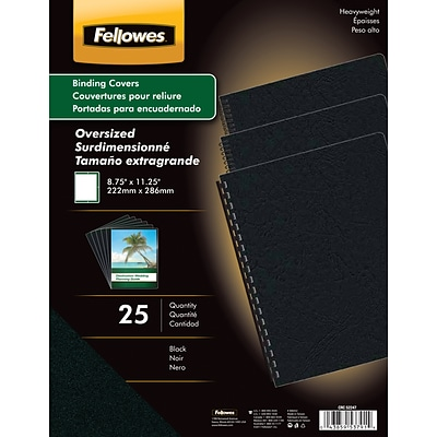 Fellowes® Oversized Presentation Binding Covers, Black