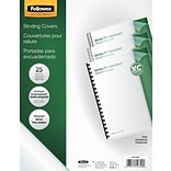 Fellowes® Crystal Presentation Binding Cover, Letter, 25/Pack