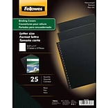 Fellowes® Futura Presentation Binding System Covers, Letter, 8-1/2x11, Black, 25/Pack