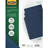 Navy Un-Punched Presentation Binding Covers