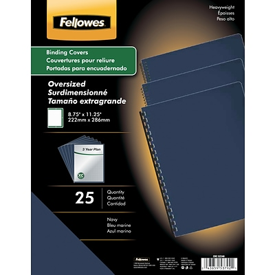Fellowes® Thermal Binding Covers, 1/16, Black