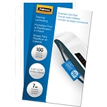 Fellowes® Business Card Laminating Pouch, 7 mil, 2-1/4H x 3-3/4W, 100/Pack