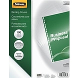 Fellowes® Clear Presentation Binding Covers