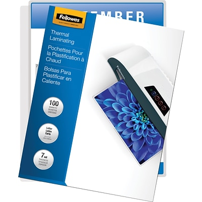 Fellowes® Thermal Laminating Pouch, 7 mil, 11-1/2H x 9W, 100/Pack