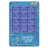 Calendar Magnets; 4x6, Gold Footprints