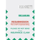 Medical Arts Press® Resubmission Envelopes; Right Window, Non-Imprinted, 9x13, 100/Box