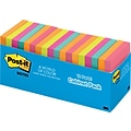Post-it® Flat Notes, 3 x 3, Cape Town Collection, 18 Pads/Pack