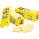 Post-it® Super Sticky Notes, 3 x 3, Canary Yellow, 24 Pads/Cabinet Pack (654-24SSCP)