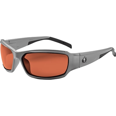 Ergodyne Thor-PZ Safety Glasses, Matte Gray/Polarized Copper, Anti-Scratch/Fog