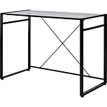 Quill Brand® Axis Glass Desk, Black