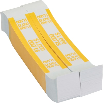 MMF Industries® Currency Bands, Yellow/$1000