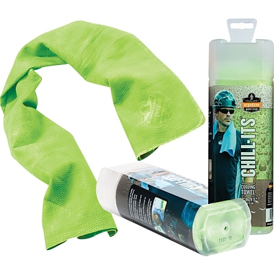 Ergodyne® Chill-Its® Cooling Towels, Lime, 6/Carton