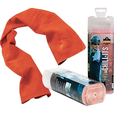 Ergodyne® Chill-Its® Cooling Towels, Orange, 6/Carton