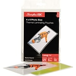 Swingline™ GBC® HeatSeal™ Thermal Laminating Pouches; 5 Mil, Photo Size, 30 Pack