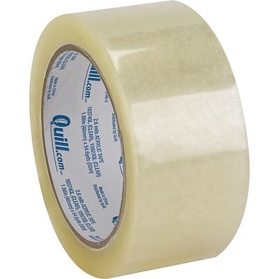 Quill Premium Shipping Packaging Tape; 2.6 mil; 55 yards long, 6 Rolls/Pack