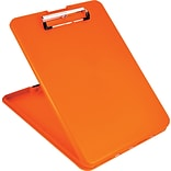 SlimMate Storage Clipboard, Safety Orange, 1/2 Capacity, Holds 8 1/2 x 12