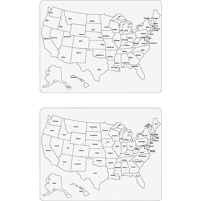 Chenille Kraft Large USA Map Whiteboard, United States, 23.63 Width x 18 Height