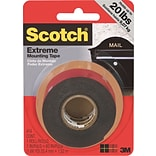 Scotch® Extreme Mounting Tape, 1 x 60, Black, 1 Roll/Pack (414P)