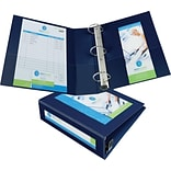 Avery Framed View Binder with 3 One Touch EZD Rings, Navy Blue (68038)