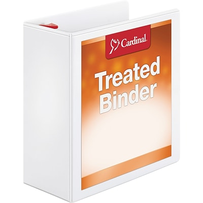 Cardinal ClearVue Standard 4 3-Ring View Binder, White (32140)