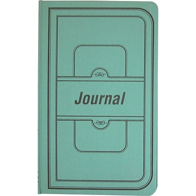 National® Record / Journal Book, Journal Ruled, 12 1/8 x 7-1/4, 500 Pages