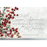 Holiday Expressions® Holiday Cards; Berries & Wishes, Gummed Envelopes