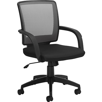 Offices To Go® Managers Chair, Mesh, Gray/Black, Seat: 18 1/2Wx17 1/2D, Back: 18 1/2Hx17 1/2W