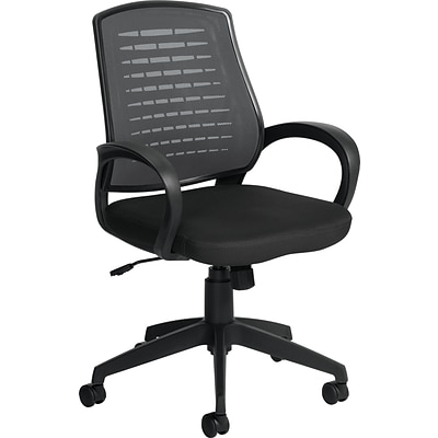Offices To Go® Managers Chair, Mesh, Gray/Black, Seat: 19 1/2W x 17D, Back: 20H x 18W