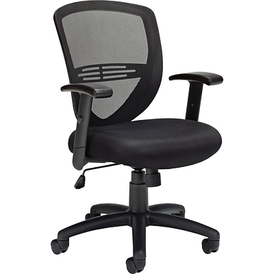 Offices To Go® Managers Chair, Mesh, Black, Seat: 20W x 17 1/2D, Back: 18 1/2H x 18 1/2W